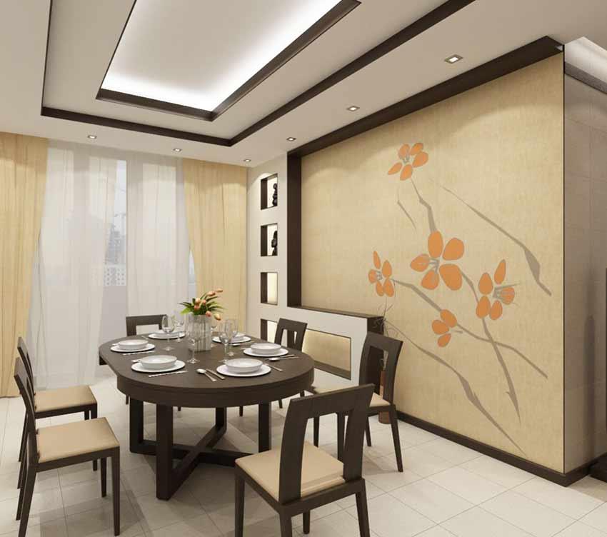 Дизайн интерьера столовой фото