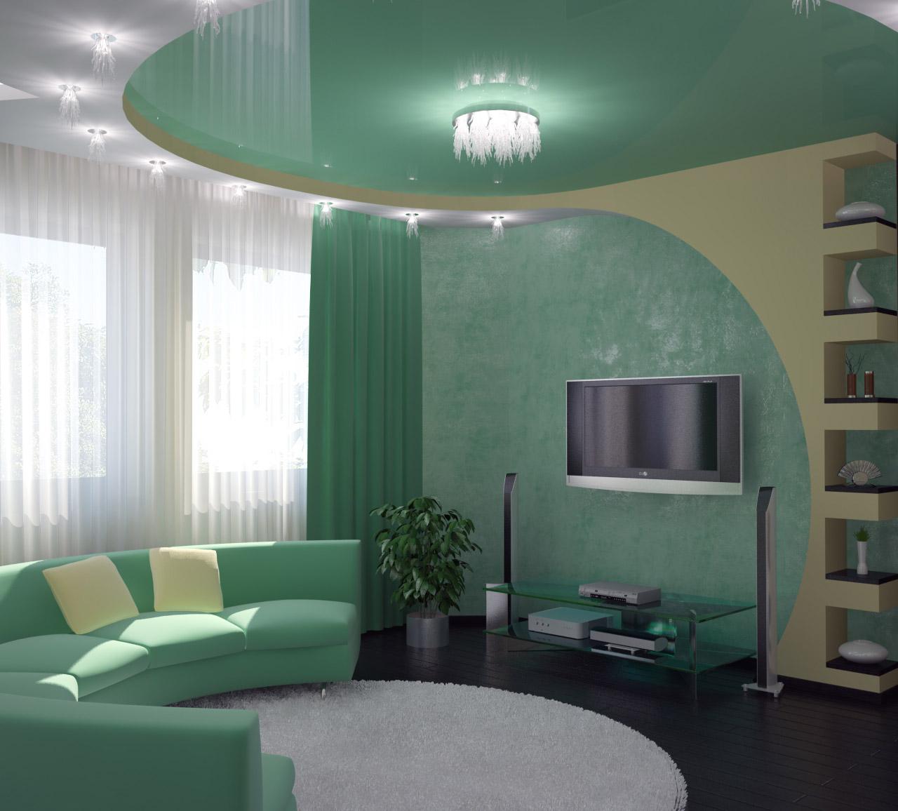 Дизайн квадратного зала фото