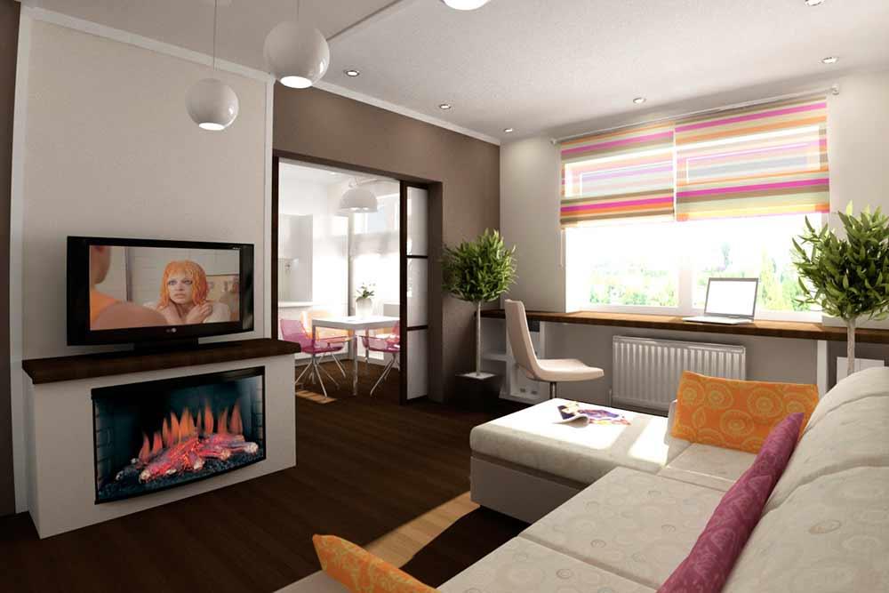 Минимализм, отличный вариант для небольшой  квартирки