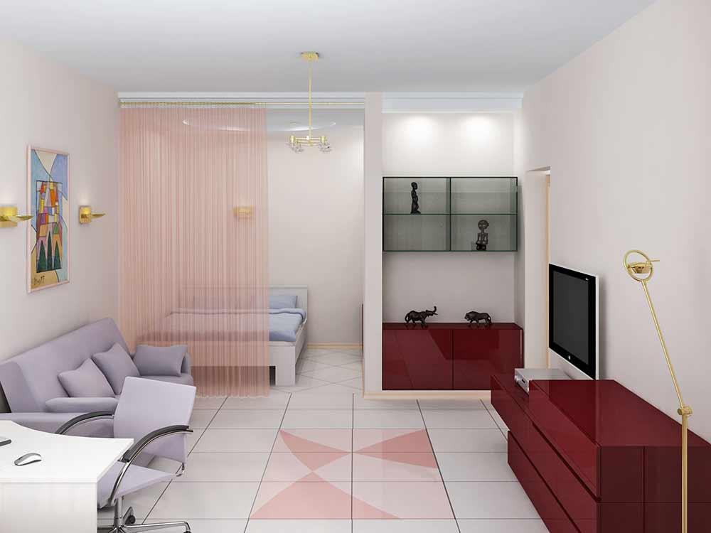 Фото дизайн комната с нишей