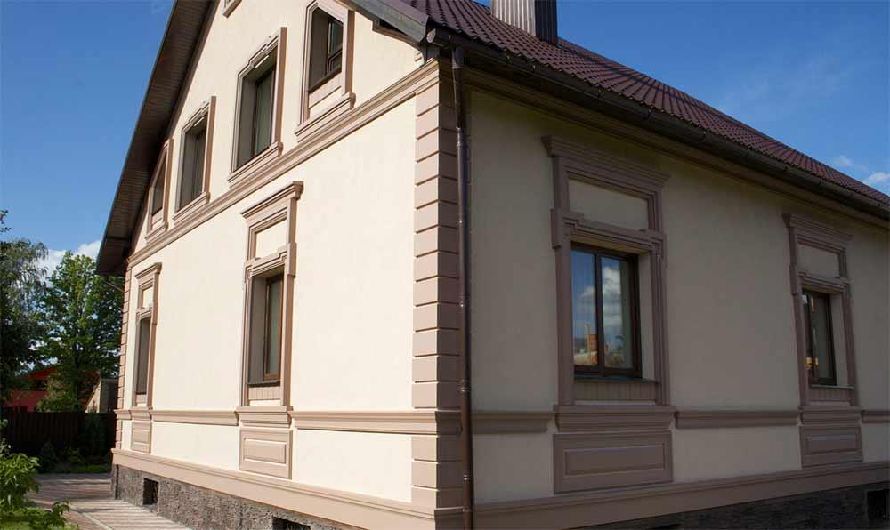 Фото фасадной штукатурки домов