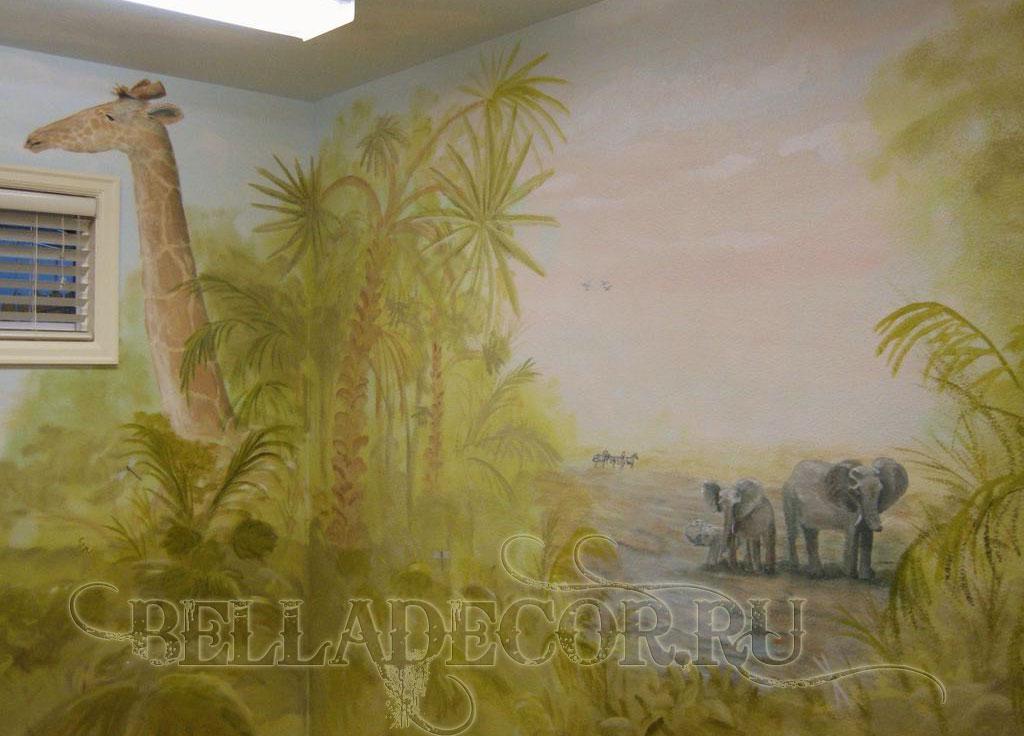 художественная роспись стен интерьера
