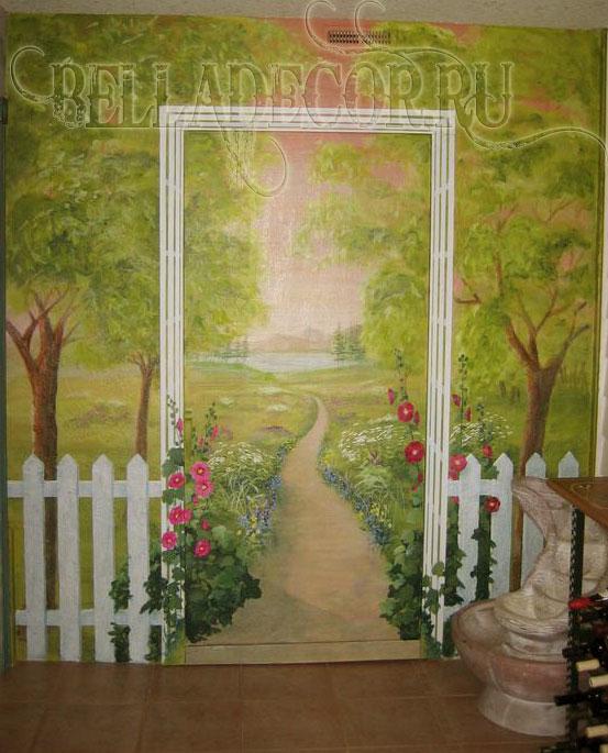 живопись на стенах интерьера
