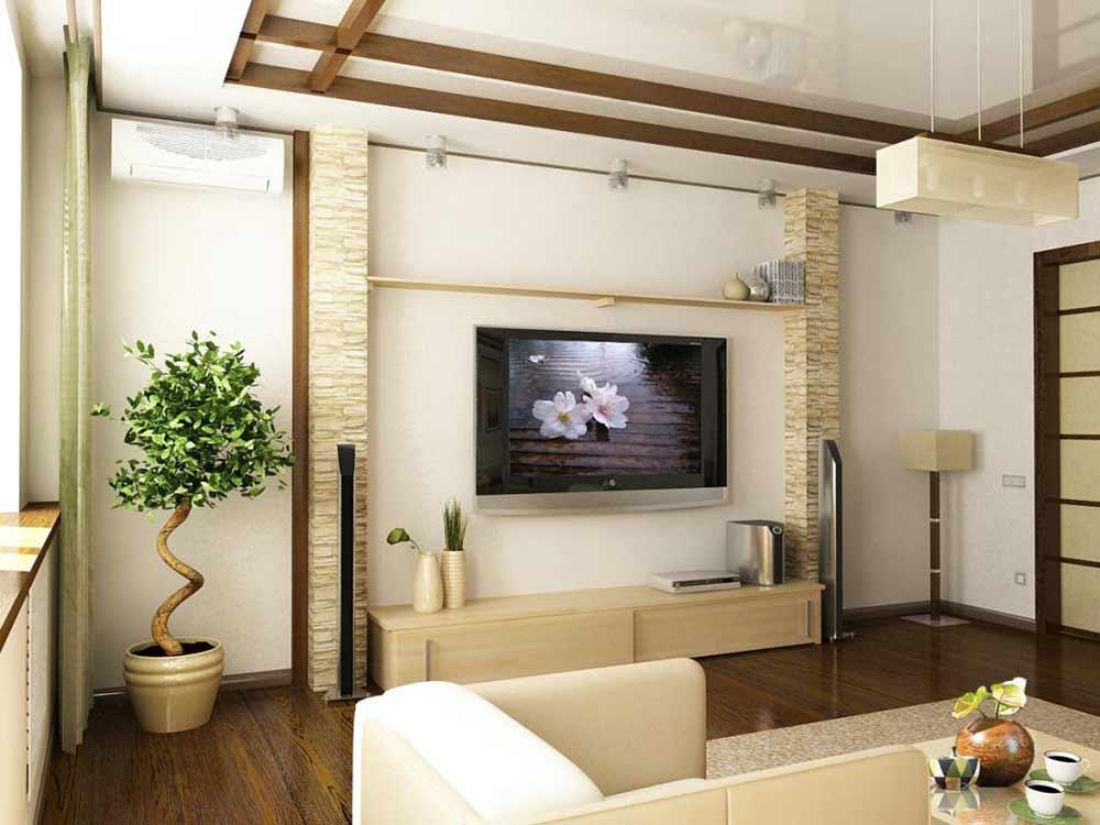 Дизайн ремонта для гостиной варианты