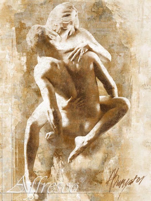 Эротика фреска по рельефу