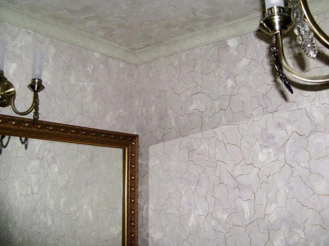 Декоративная штукатурка с трещинами Кракелюр