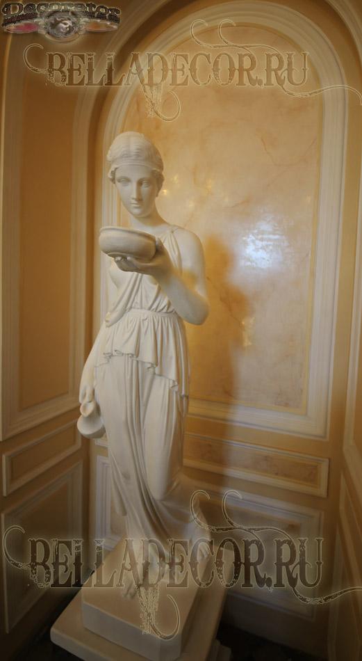 Венецианская штукатурка имитирует натуральный мрамор